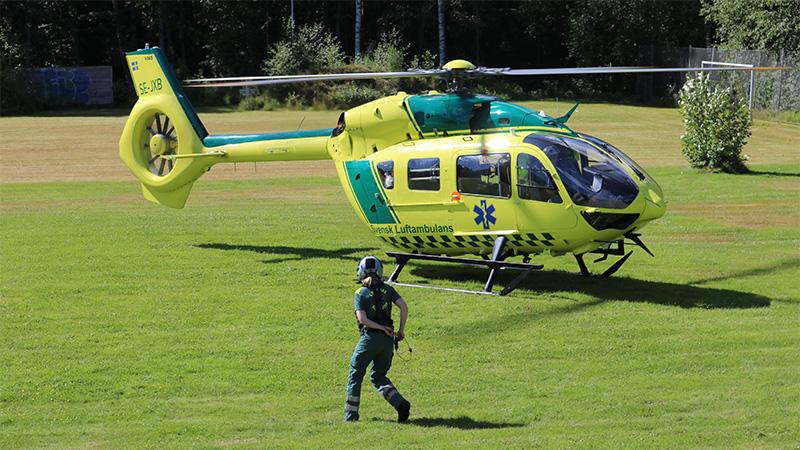 Helikopter som skall lyfta